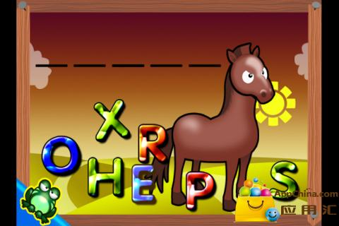 游戏 益智休闲 儿童动物拼单词