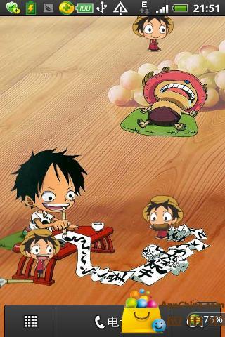 海贼王桌面宠物 路飞 动态壁纸版高清图片