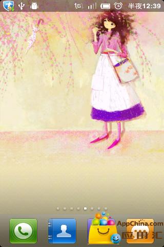韩国手绘动态壁纸-可爱小女生4下载