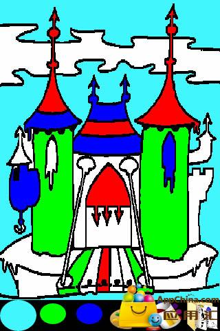 儿童画画公主城堡图
